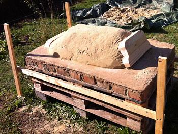 Lehmofen bauen und backen im Lehmofen - Väterzeit