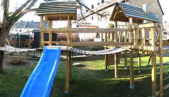 Klettergerüst Holz Selber Bauen : Vätersache spielgerüst mit rutsche selber bauen väterzeit